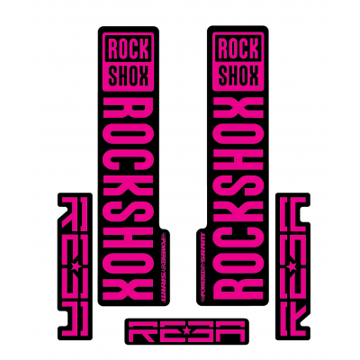Stickere RockShox Reba V1 Decal Kit Black/Magenta