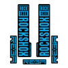 Stickere RockShox Reba V1 Decal Kit Black/Cyan