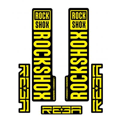 Stickere RockShox Reba V1 Decal Kit Black/Yellow