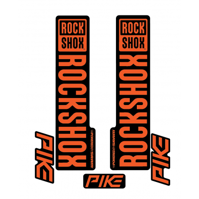 Stickere RockShox Pike V1 Decal Kit Black/Orange