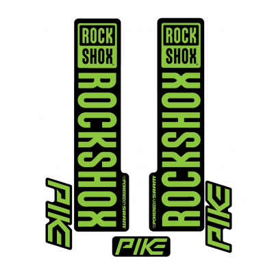 Stickere RockShox Pike V1 Decal Kit Black/Lime