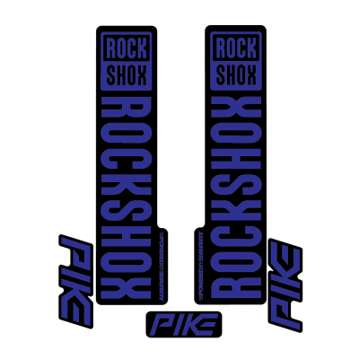 Stickere RockShox Pike V1 Decal Kit Black/Dark Blue