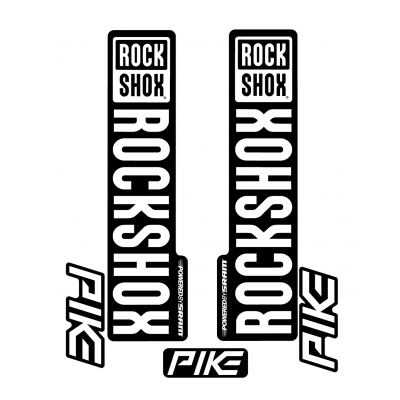Stickere RockShox Pike V1 Decal Kit Black/White