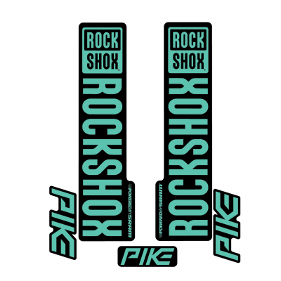 Stickere RockShox Pike V1 Decal Kit Black/Turqoise