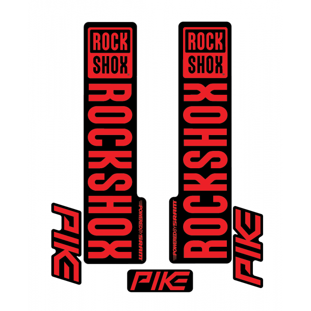 Stickere RockShox Pike V1 Decal Kit Black/Red