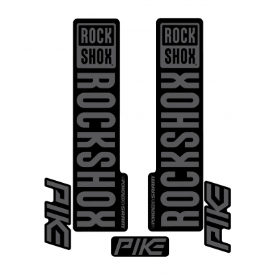 Stickere RockShox Pike V1 Decal Kit Black/Grey