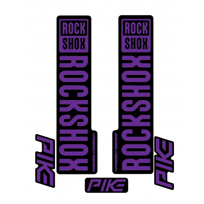 Stickere RockShox Pike V1 Decal Kit Black/Purple
