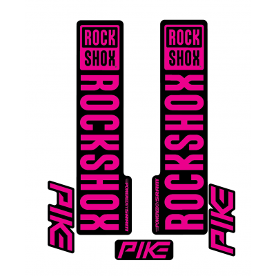 Stickere RockShox Pike V1 Decal Kit Black/Magenta