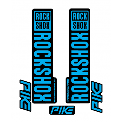 Stickere RockShox Pike V1 Decal Kit Black/Cyan