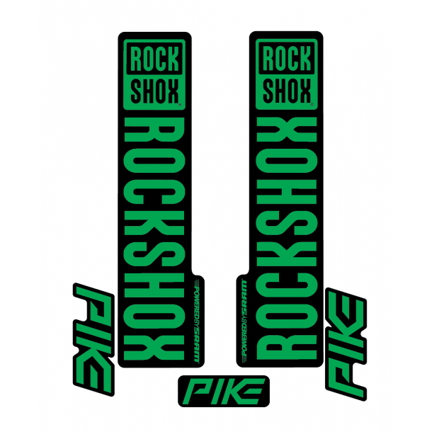 Stickere RockShox Pike V1 Decal Kit Black/Green