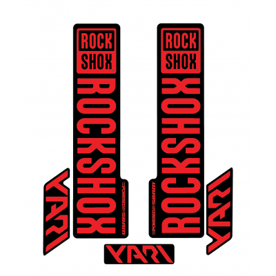 Stickere RockShox Yari V1 Decal Kit Black/Red