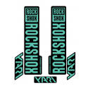 Stickere RockShox Yari V1 Decal Kit Black/Turqoise