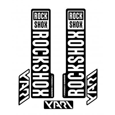 Stickere RockShox Yari V1 Decal Kit Black/White