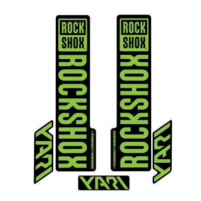Stickere RockShox Yari V1 Decal Kit Black/Lime