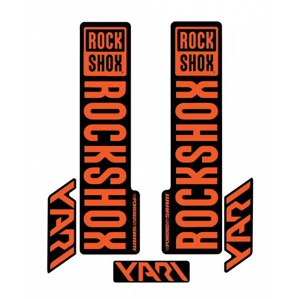 Stickere RockShox Yari V1 Decal Kit Black/Orange