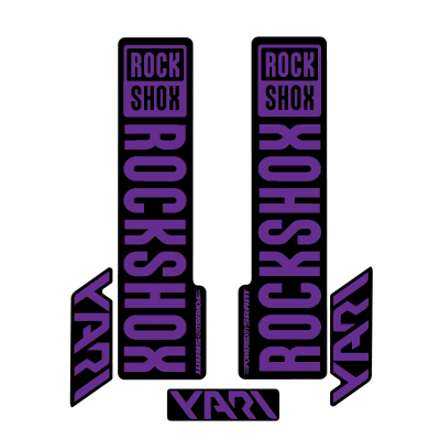 Stickere RockShox Yari V1 Decal Kit Black/Purple