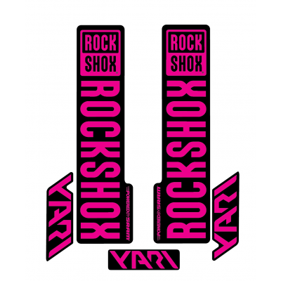 Stickere RockShox Yari V1 Decal Kit Black/Magenta