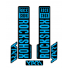 Stickere RockShox Yari V1 Decal Kit Black/Cyan