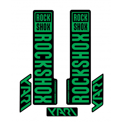 Stickere RockShox Yari V1 Decal Kit Black/Green