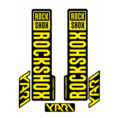 Stickere RockShox Yari V1 Decal Kit Black/Yellow