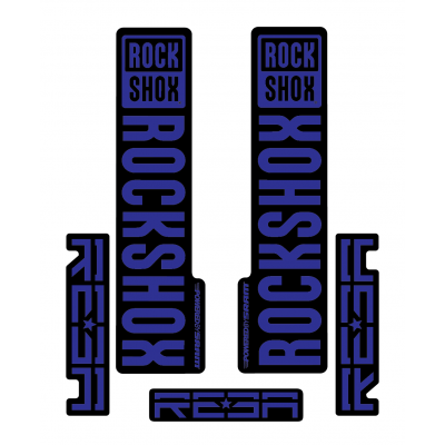 Stickere RockShox Reba V1 Decal Kit Black/Dark Blue