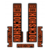 Stickere RockShox Reba V1 Decal Kit Black/Orange