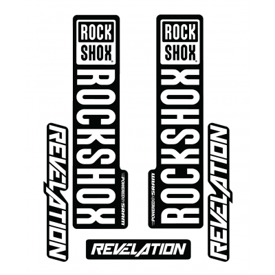 Stickere RockShox Revelation V1 Decal Kit Black/White