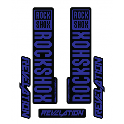 Stickere RockShox Revelation V1 Decal Kit Black/Dark Blue