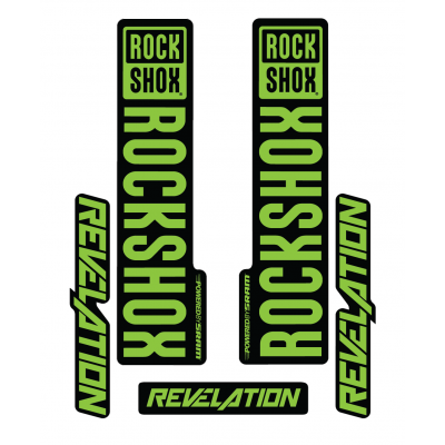 Stickere RockShox Revelation V1 Decal Kit Black/Lime