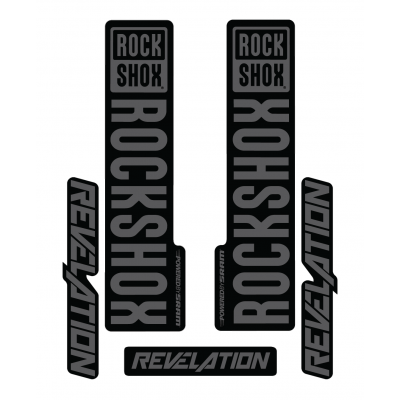 Stickere RockShox Revelation V1 Decal Kit Black/Grey