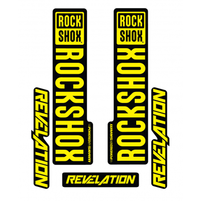 Stickere RockShox Revelation V1 Decal Kit Black/Yellow