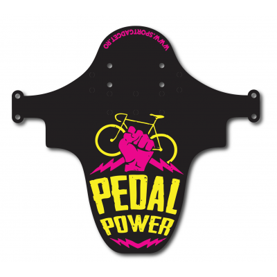 Aparatoare Furca/Cadru Sportgadget PedalPower Black/Yellow/Pink