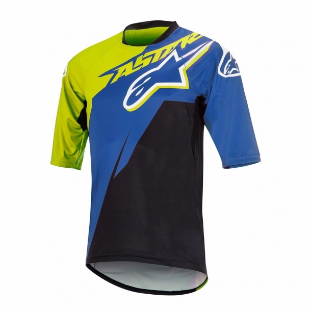 Bluza Alpinestars Sight Contender Short Sleeve Jersey royal blue/acid yellow