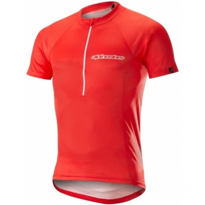 Tricou Alpinestars Elite S/S Jersey red/white