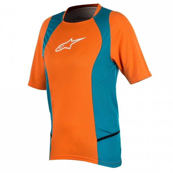 Tricou Alpinestar Stella Drop 2 S/S Jersey bright orange/ocean