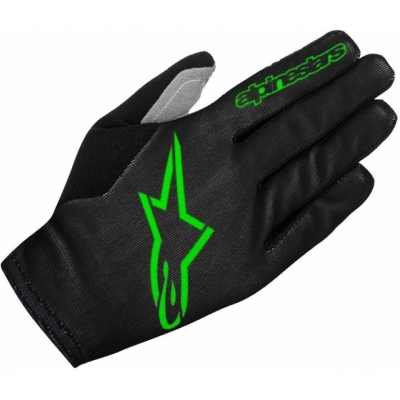 Manusi Alpinestars Aero 2 black/bright green