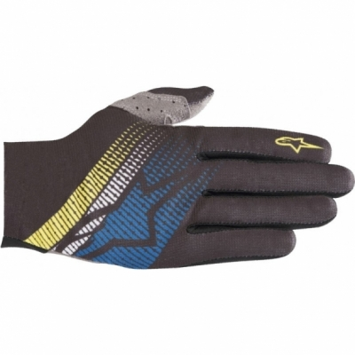 Manusi Alpinestars Predator black/royal blue/acid yellow