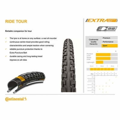 Anvelopa 28'' Wired Continental Ride Tour Reflex PunctureProTection 700 x 47c - 622 x 47