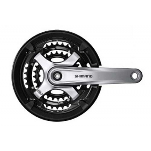 Angrenaj Shimano FC TY701 175Mm 48X38X28 (Black Black Black) W Cg W Truvativ Fixing Bolt Silver Bulk