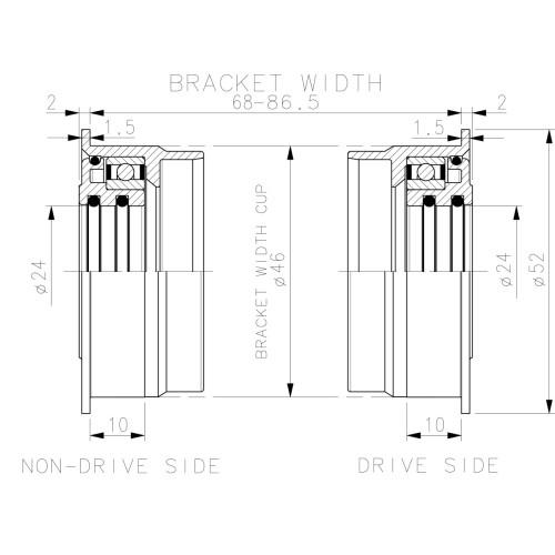 Antifurt Trelock Modular Pliabil Fs 200 anti coroziv praf cheie rev. negru