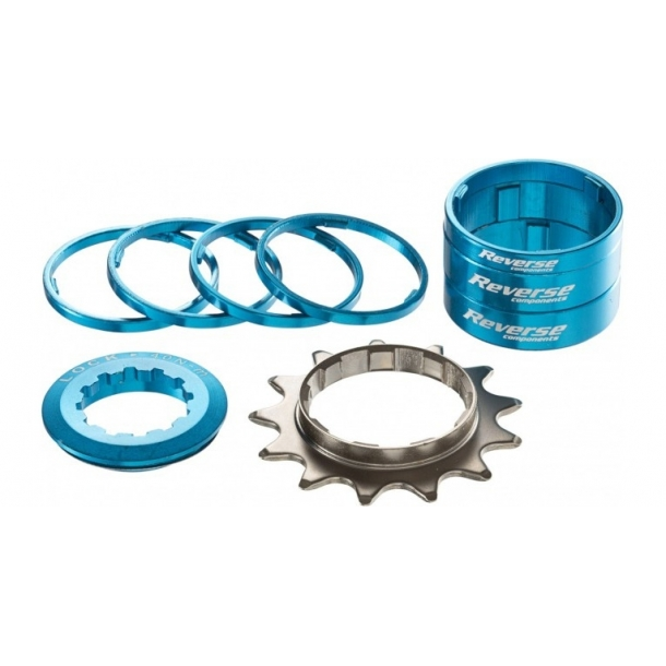 Kit single speed Reverse 13T albastru deschis