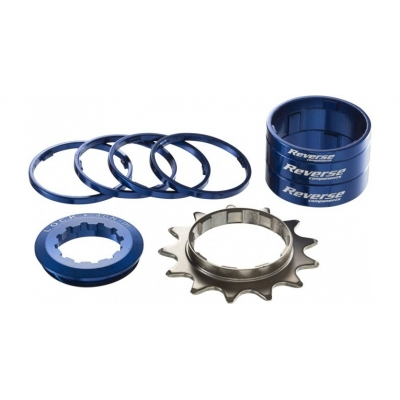 Kit single speed Reverse 13T albastru inchis